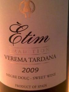 Bouteille de 50 cl de la cuvée Etim Verema Tardana