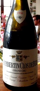 Bourgogne Grand Cru Chambertin Clos de Bèze 1996 du Domaine Armand Rousseau