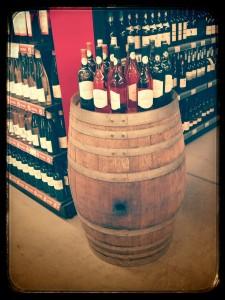Rayon vins supermarché