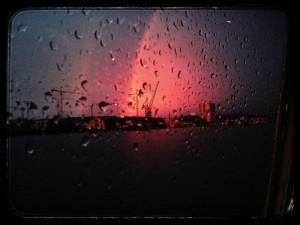 Arc-en-ciel sur le port de Bordeaux