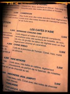 Carte Café Verlet - Paris 1er