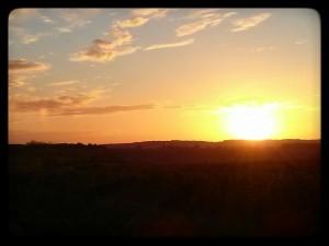 Coucher de soleil sur les terroirs de Ménetou-Salon