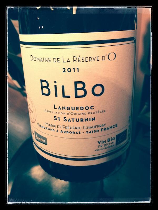 Cuvée Bilbo du domaine La Réserve d'O à Arboras - AOP Languedoc Saint-Saturnin