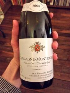 Ramonet Chassagne Rouge Clos Saint Jean 2008