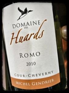 Michel Gendrier Domaine des Huards Cour-Cheverny Romo 2010