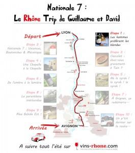 Etape 1 du Rhône Trip de Guillaume et David