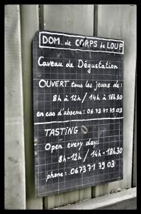 Horaires Domaine Corps de Loup, vins de Côte-Rôtie et Condrieu