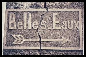 Inscription en pierre du Mas Belles Eaux, Caux, Languedoc