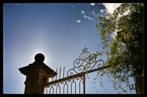 Le portail du Mas Belles Eaux, Caux, Languedoc