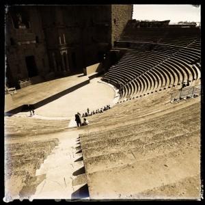 Les gradins du théâtre antique d'Orange