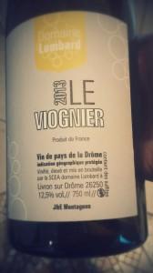 Viognier IGP Drôme Lombard 2013