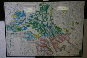 Carte des unités agropédologiques (géologie) de Picpoul de Pinet, Languedoc