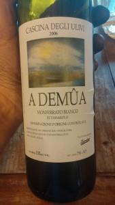 Cascina degli Ulivi A Demûa 2006 vin orange italie piedmont