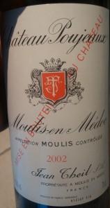 Château Poujeaux 2002 Moulis-en-Médoc Bordeaux