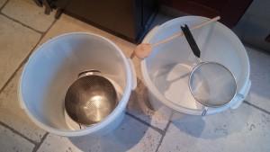Atelier filtration du moût et rinçage des drêches