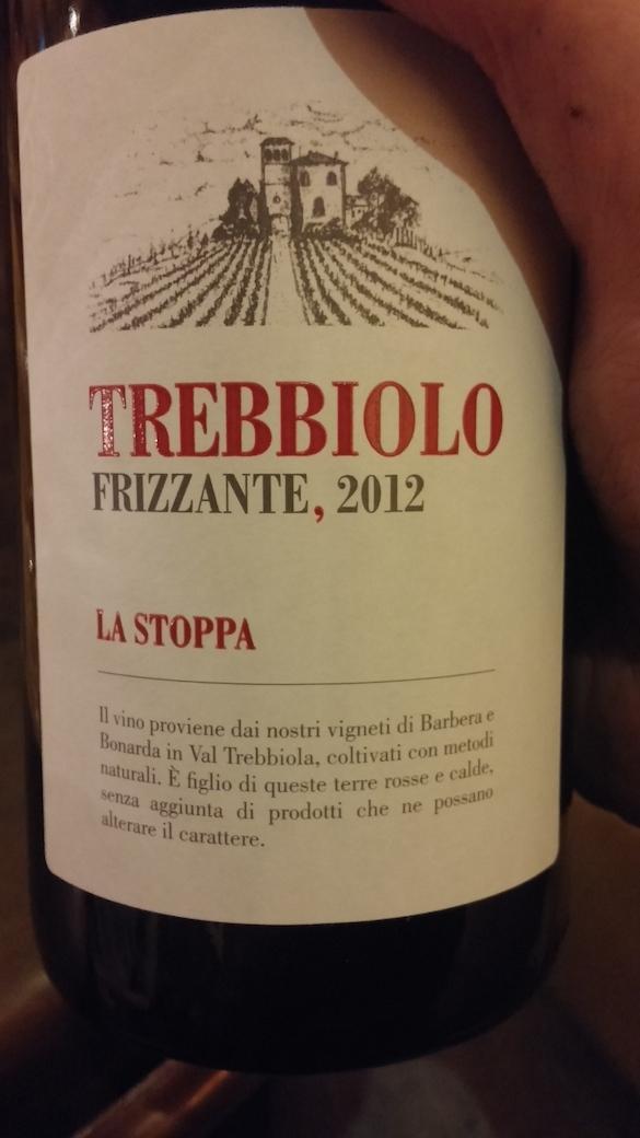 Trebbiolo Frizzante La Stoppa 2012