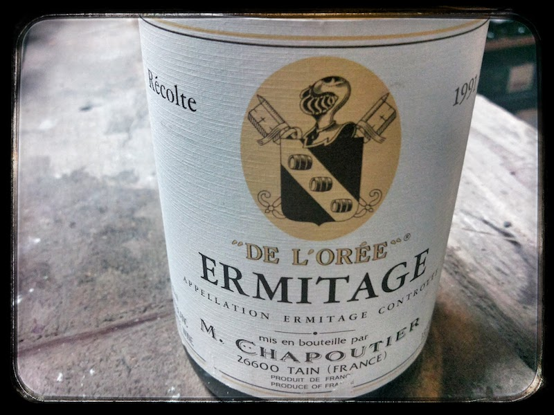 Étiquette Hermitage blanc cuvée l'Orée 1991 - Chapoutier