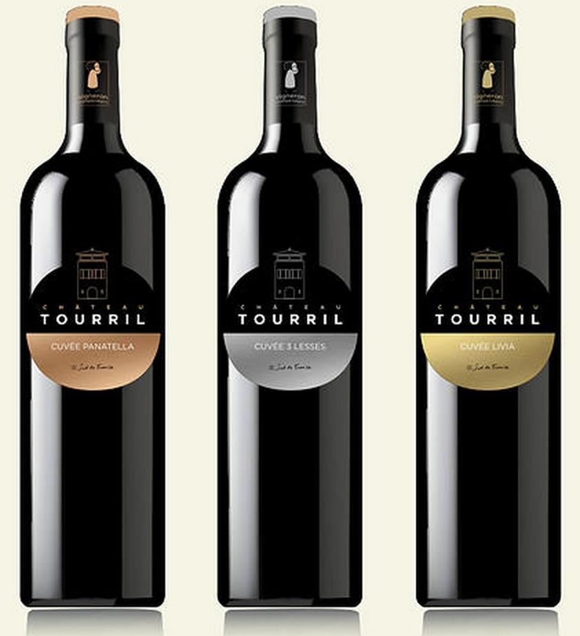 """Château Tourril - Minervois - Languedoc - Cuvées """"3 Lesses"""", """"Panatella"""" et """"Livia"""""""