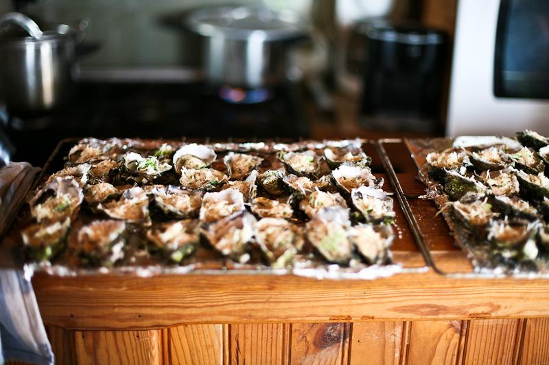 Huîtres de Bouzigues gratinées